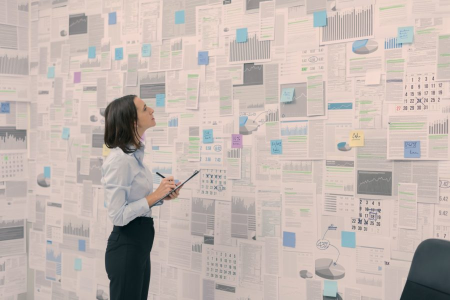 Corporate Manager Checking Financial Data And Zsjvq2b